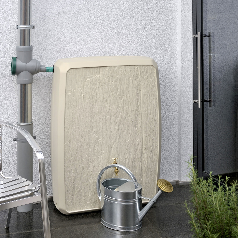 regentonne eckig wasserfass multitank 250 l sandstein ebay. Black Bedroom Furniture Sets. Home Design Ideas