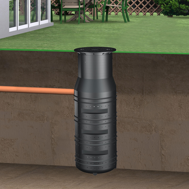 regenwasser versickerungsschacht sickerschacht 950 l inkl. Black Bedroom Furniture Sets. Home Design Ideas