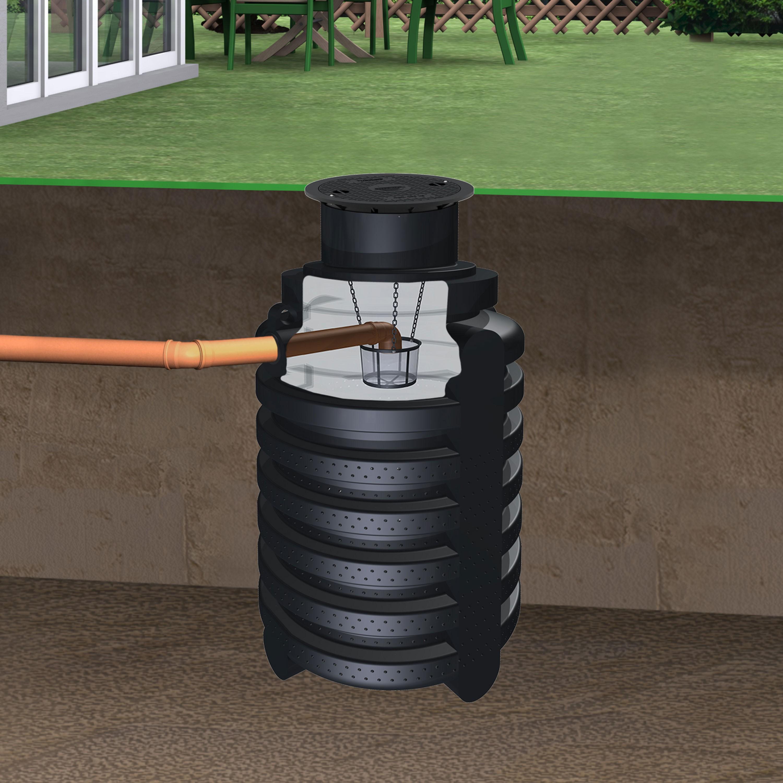 schacht f r regenwasser versickerung 2000 l inkl. Black Bedroom Furniture Sets. Home Design Ideas